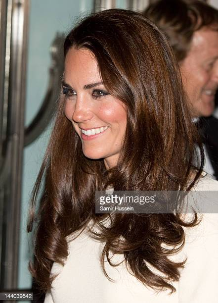 Catherine, Duchess of Cambridge leaves a dinner hosted by The Thirty Club at Claridges on May 8, 2012 in London, England.
