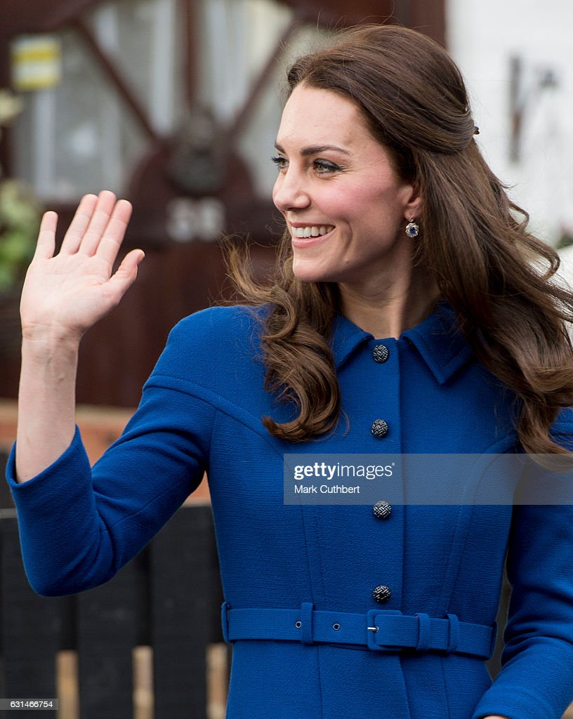 Catherine, Duchess of Cambridge leaves after a visit to the Anna Freud Centre on January 11, 2017 in London, England.