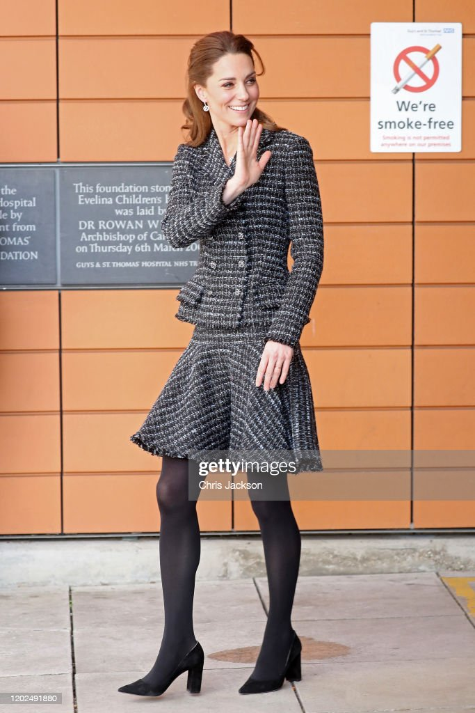 The Duchess Of Cambridge Visits The National Portrait Gallery Workshop At Evelina London Children's Hospital : News Photo