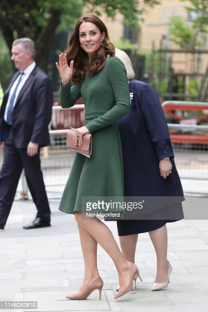 Catherine Duchess of Cambridge leaves after opening the Anna Freud Centre of Excellence at Anna Freud Centre on May 01 2019 in London England The...