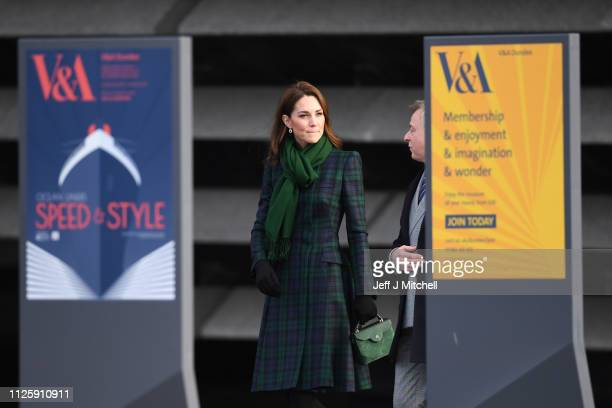 Catherine Duchess of Cambridge leaves after the official opening of VA Dundee on January 29 2019 in Dundee Scotland