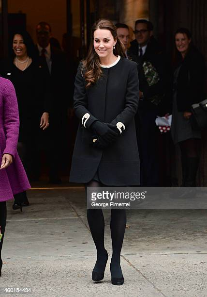 Catherine Duchess of Cambridge leaves after visiting Northside Center for Child Development on December 8 2014 in New York City The royal couple are...