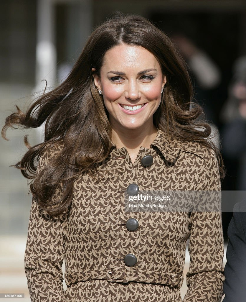 Catherine, Duchess Of Cambridge Visits Schools In Oxford : News Photo