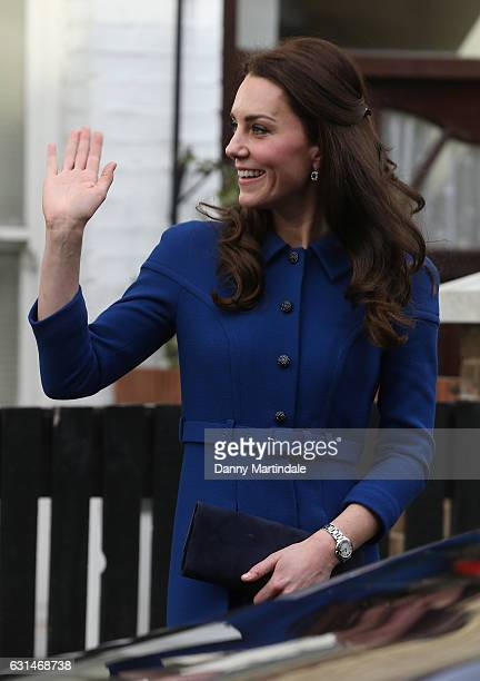 Catherine, Duchess of Cambridge leaves the Anna Freud Centre on January 11, 2017 in London, England.