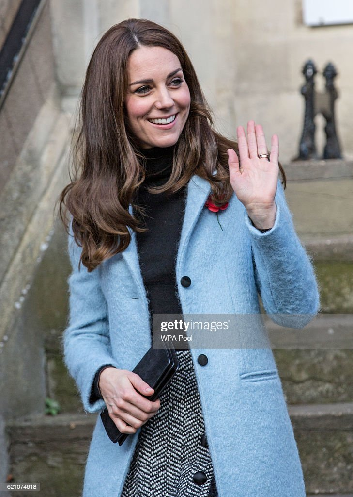 Catherine, Duchess of Cambridge leaves the Nelson Trust Women's Centre on November 4, 2016 in Gloucester, England. The Women's Centre was set up in 2010 and is designed to support women who have vulnerabilities, particularly those who have experienced abuse and trauma. Along with a second site in Swindon the Women's Centre supports over 500 women annually, across Gloucestershire, Somerset and Wiltshire. During the visit Her Royal Highness will meet with members of staff and will also be introduced to women who have accessed the centre's vital support.