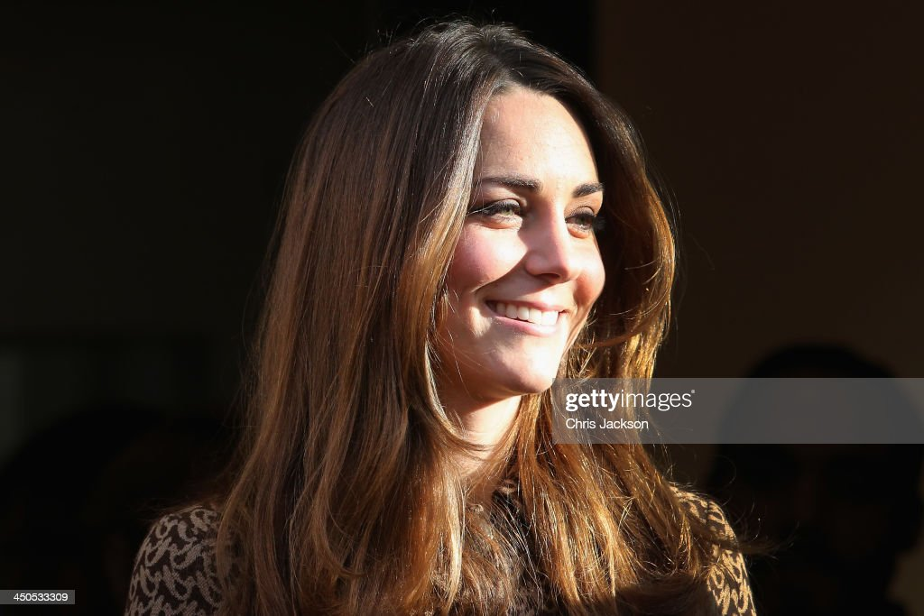 Catherine, Duchess of Cambridge leaves the second part of a visit to the Only Connect and ex-offenders projects on November 19, 2013 in London, England.