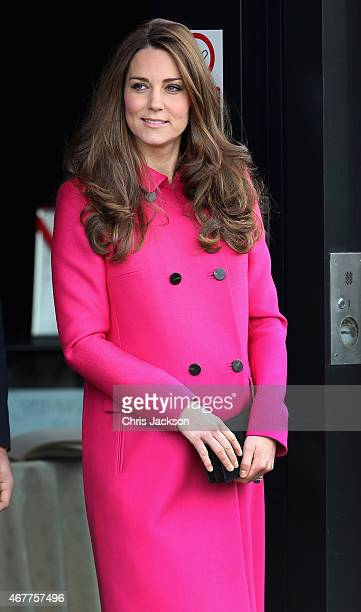 Catherine Duchess of Cambridge leaves the Stephen Lawrence Centre on March 27 2015 in London England