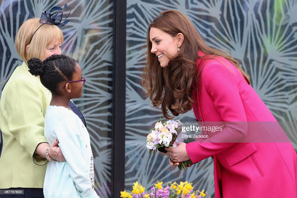 Catherine, Duchess of Cambridge leaves the Stephen Lawrence Centre on March 27, 2015 in London, England.