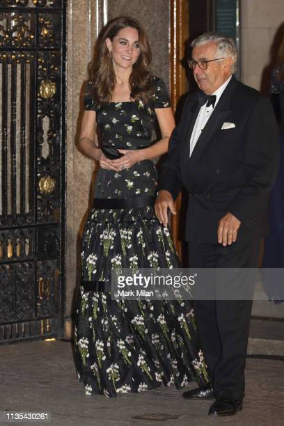 Catherine, Duchess of Cambridge leaving the National Portrait Gallery gala on March 12, 2019 in London, England.