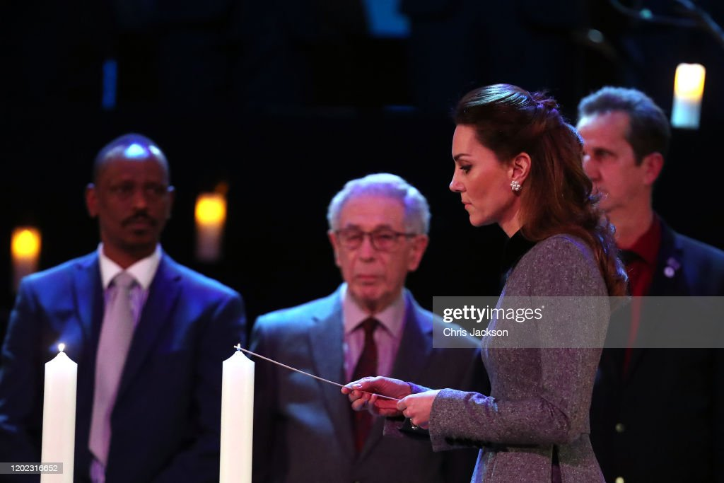 The Duke And Duchess Of Cambridge Attend The UK Holocaust Memorial Day Commemorative Ceremony : News Photo