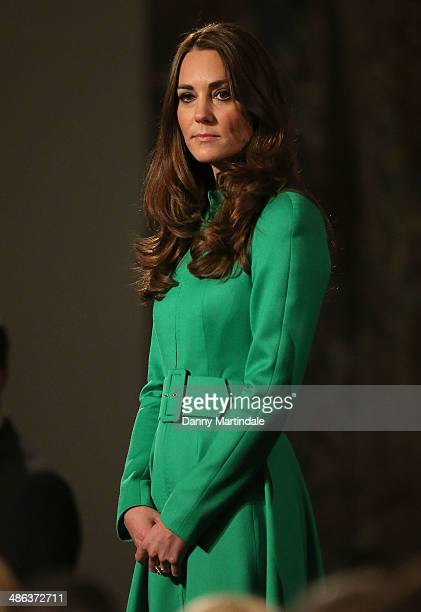 Catherine Duchess of Cambridge looks on at the Australian Parliament on April 24 2014 in Canberra Australia The Duke and Duchess of Cambridge are on...