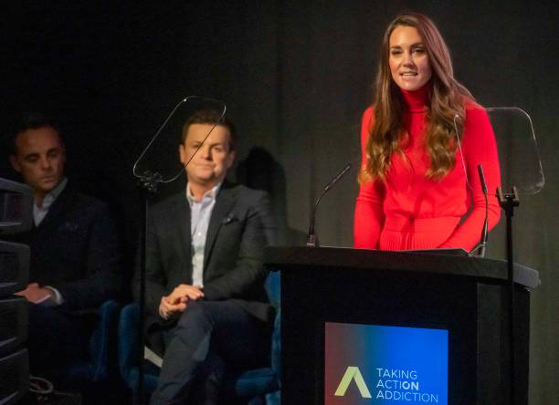 """GBR: The Duchess Of Cambridge Makes Keynote Speech To Launch """"Taking Action On Addiction"""" Campaign"""