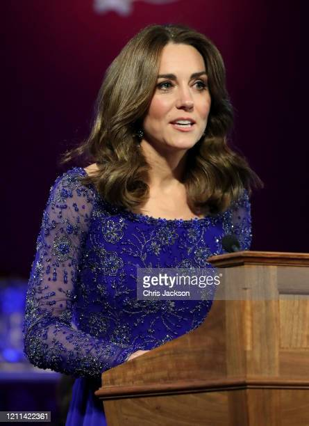 Catherine, Duchess of Cambridge makes a speech as she hosts a Gala Dinner in celebration of the 25th anniversary of Place2Be at Buckingham Palace on...
