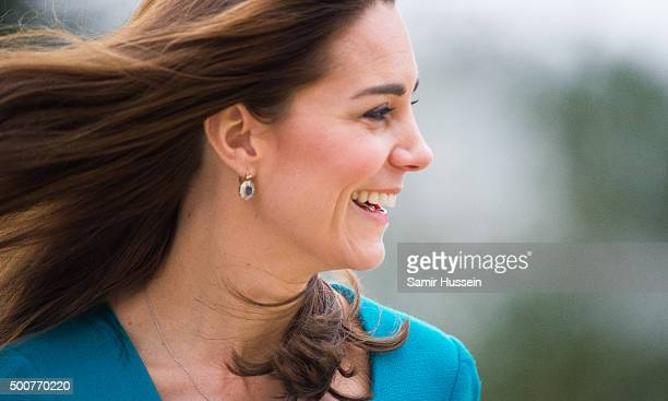 Catherine Duchess of Cambridge makes an official visit to the Action on Addiction Centre for addiction treatment studies at Action on Addiction...