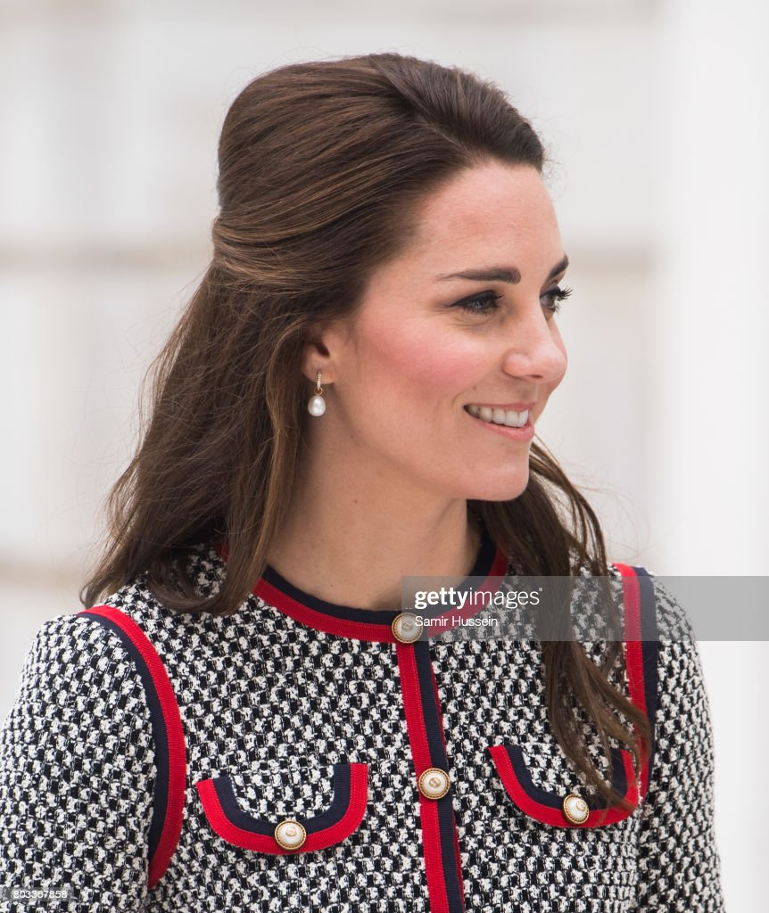 The Duchess Of Cambridge Visits The New V&A Exhibition Road Quarter : News Photo
