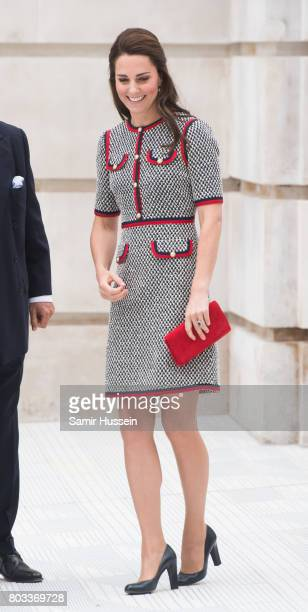 Catherine Duchess of Cambridge makes an official visit to the new VA exhibition road quarter at Victoria Albert Museum on June 29 2017 in London...