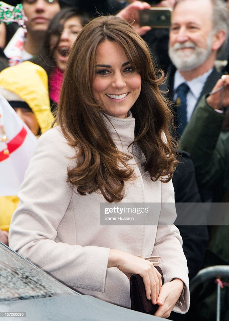 Catherine, Duchess of Cambridge makes an official visit to the Guildhall with Prince William, Duke of Cambridge on November 28, 2012 in Cambridge, England.