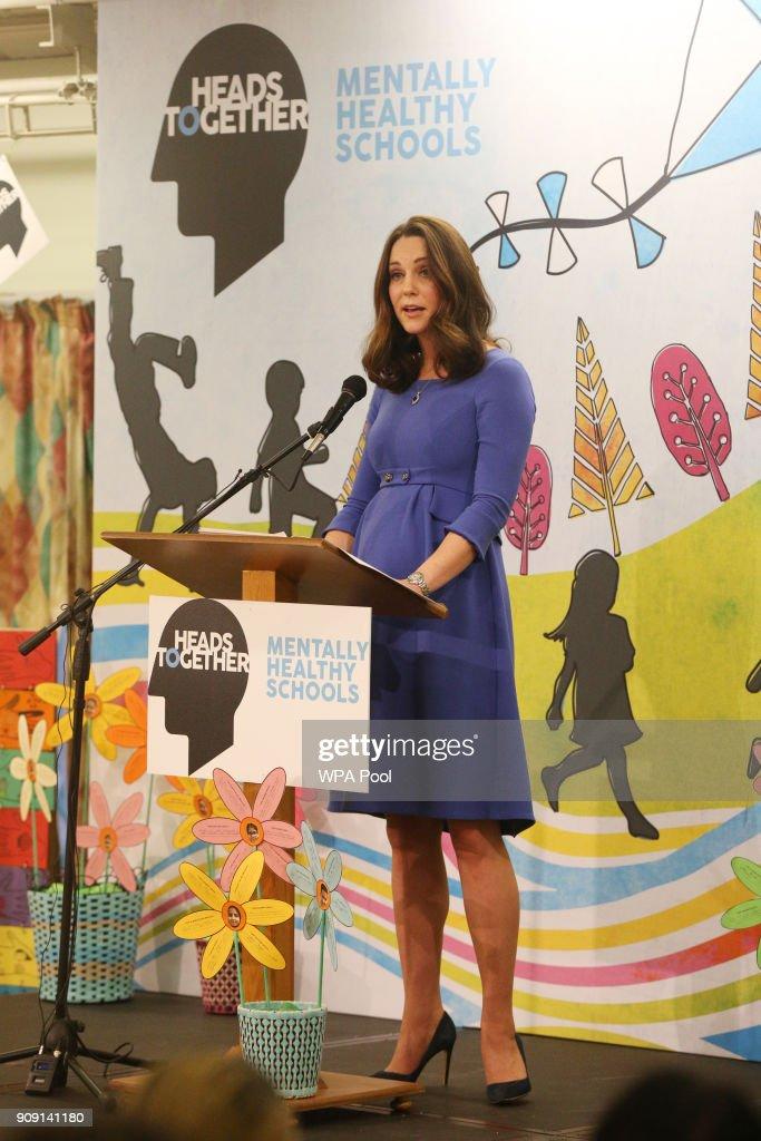The Duchess Of Cambridge Launches Mental Health Programme For Schools : Nieuwsfoto's