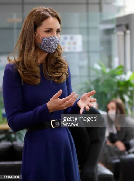 Catherine Duchess of Cambridge meets families during a visit to the Institute of Reproductive and Development Biology at Imperial College on October...