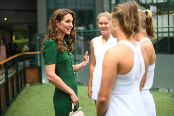 GBR: Catherine, Duchess of Cambridge Attends Women's Final Day At Wimbledon