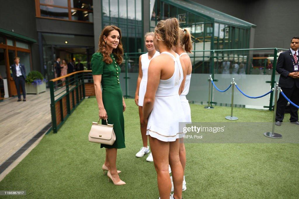 Catherine, Duchess of Cambridge Attends Women's Final Day At Wimbledon : News Photo