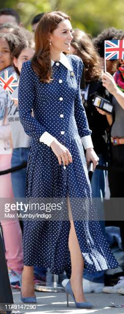 Catherine Duchess of Cambridge meets members of the public as she visits the 'DDay Interception Intelligence Invasion' exhibition at Bletchley Park...
