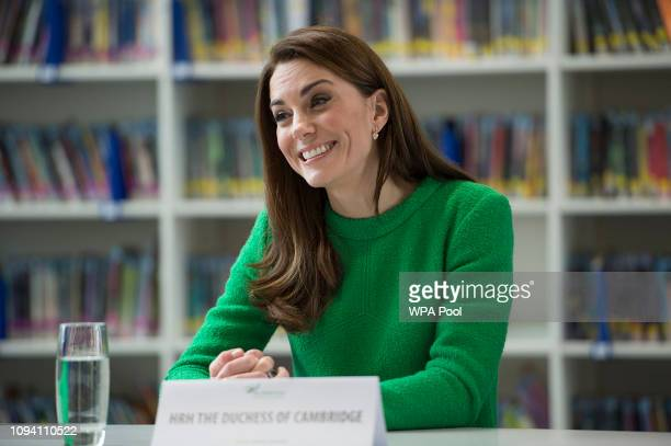 Catherine, Duchess of Cambridge meets pupils at Alperton Community School in support of Place2Be's Children's Mental Health Week 2019 on February 05,...
