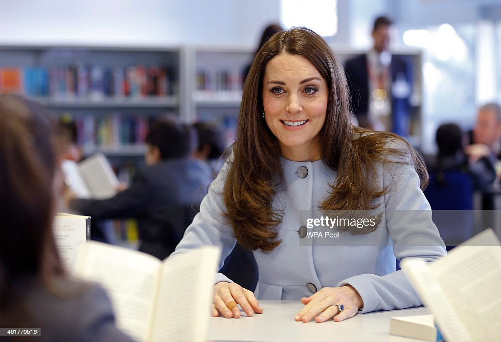 The Duchess Of Cambridge Formally Opens The Kensington Aldridge Academy : News Photo