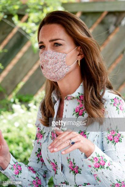 Catherine Duchess of Cambridge meets residents at the Shire Hall Care Home where they spoke to some of the home's staff residents and their family...
