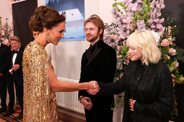 """GBR: The Prince Of Wales And The Duchess of Cornwall, And The Duke And The Duchess Of Cambridge Attend The World Premiere Of """"No Time to Die"""""""