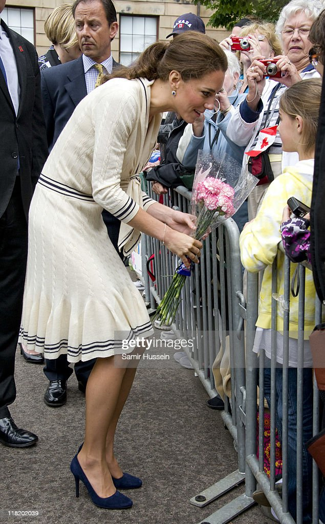 Catherine, Duchess of Cambridge meets well wishers as she attends a welcome ceremony at Province House on day 5 of the Royal Couple's North American Tour, July 4, 2011 in Charlottetown, Prince Edward Island, Canada.