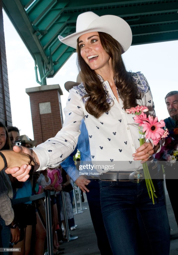 Catherine, Duchess of Cambridge meets well wishers at a Government Reception at the BMO Centre on day 8 of the Royal couple's tour of North America on July 7, 2011 in Calgary, Canada.