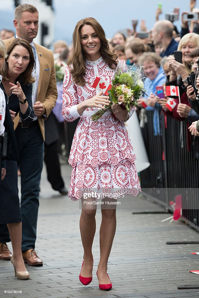 Catherine, Duchess of Cambridge meets well wishers at Jack Poole Plaza on September 25, 2016 in Vancouver, Canada.