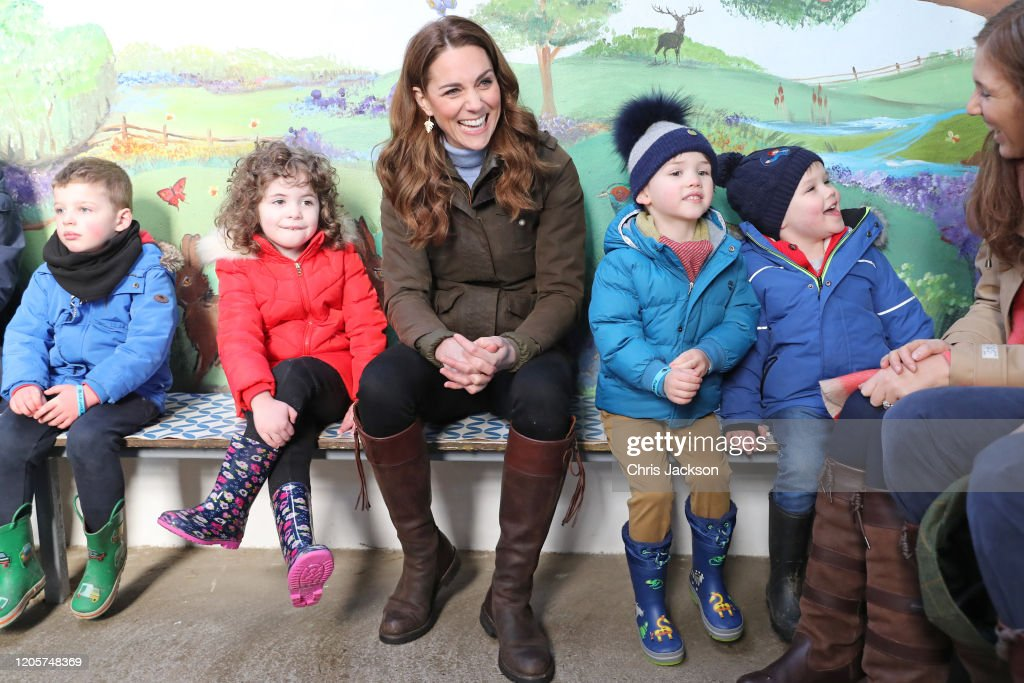 The Duchess Of Cambridge Visits Northern Ireland : News Photo