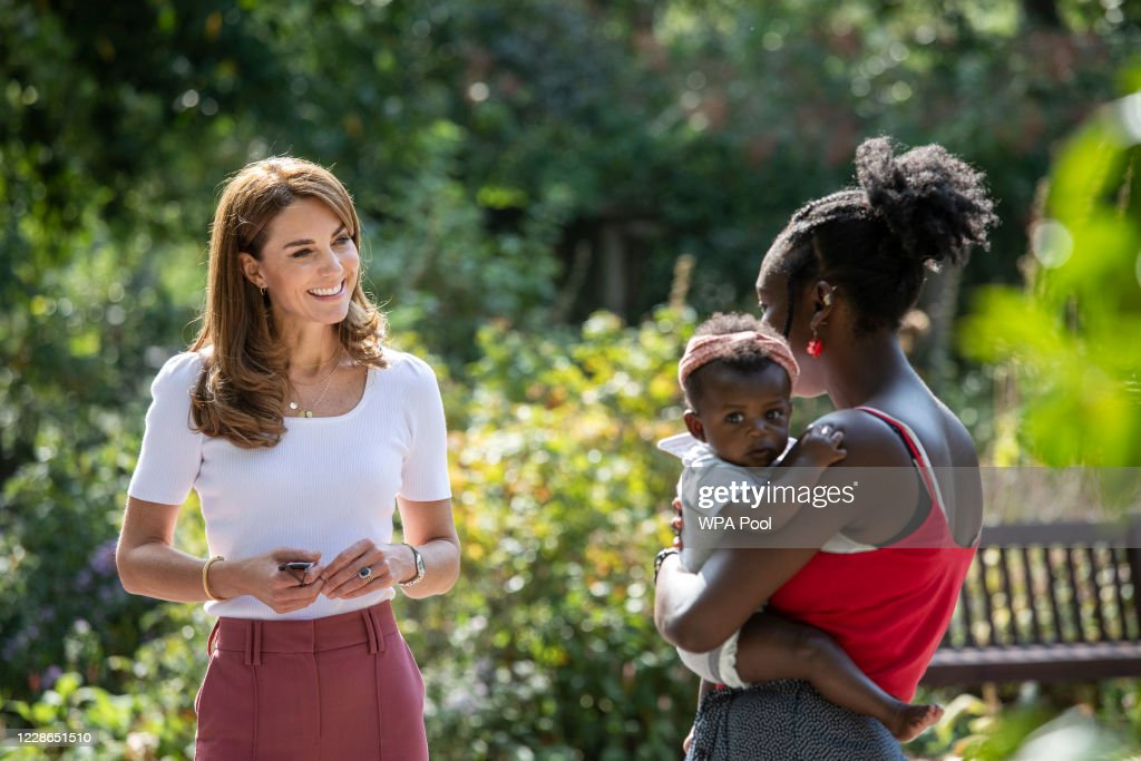 The Duchess of Cambridge Meets Families And Key Organisations To Discuss Parent Wellbeing : News Photo