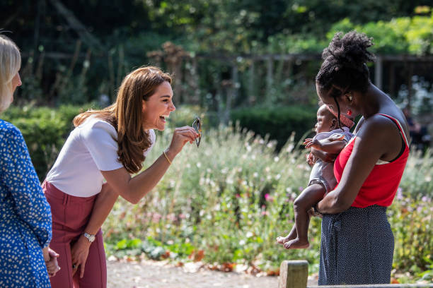 GBR: The Duchess of Cambridge Meets Families And Key Organisations To Discuss Parent Wellbeing