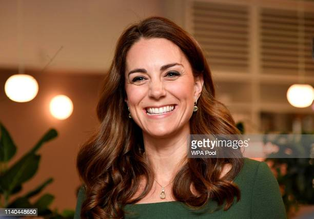 Catherine, Duchess of Cambridge officially opens the new Centre of Excellence at the Anna Freud Centre on May 1, 2019 in London, England. The Duchess...
