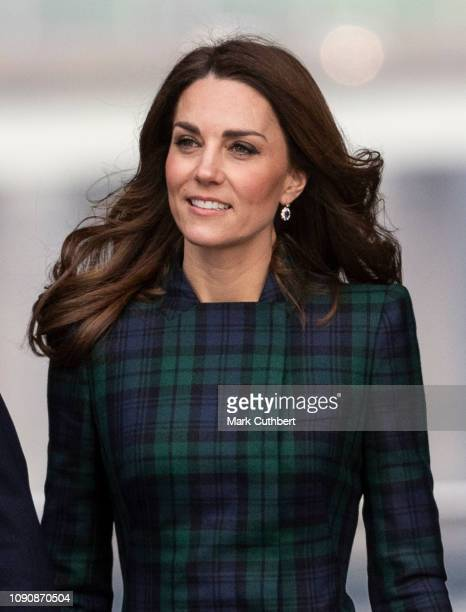 Catherine Duchess of Cambridge officially opens the VA Dundee and greets members of the public on the waterfront on January 29 2019 in Dundee Scotland