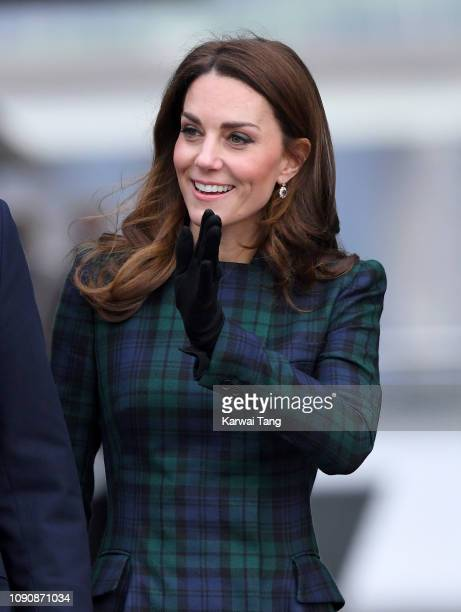 Catherine Duchess Of Cambridge officially opens VA Dundee and greet members of the public on the waterfront on January 29 2019 in Dundee Scotland
