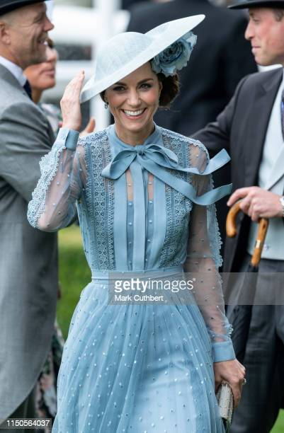 Catherine, Duchess of Cambridge on day one of Royal Ascot at Ascot Racecourse on June 18, 2019 in Ascot, England.
