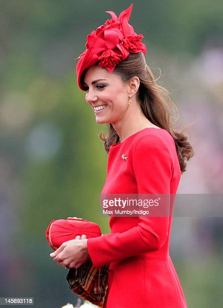 Catherine, Duchess of Cambridge onboard the Royal Barge 'Spirit of Chartwell' during the Diamond Jubilee Thames River Pageant on June 3, 2012 in...