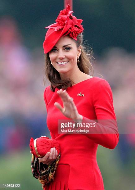Catherine Duchess of Cambridge onboard the Royal Barge 'Spirit of Chartwell' during the Diamond Jubilee Thames River Pageant on June 3 2012 in London...