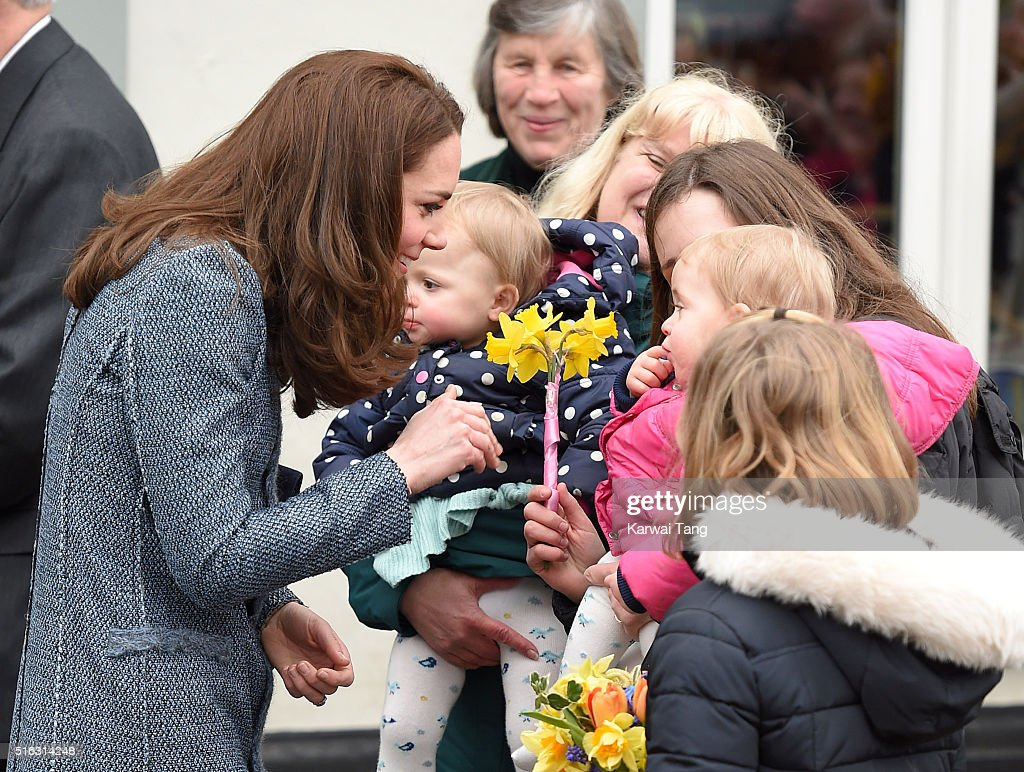 The Duchess Of Cambridge Opens New EACH Charity Shop In Holt, Norfolk : News Photo