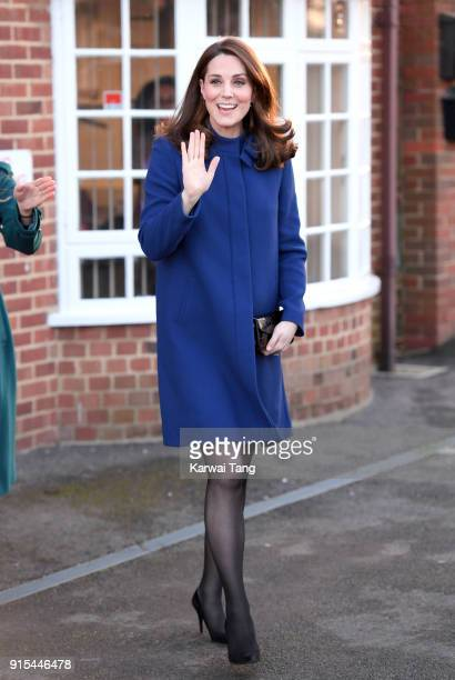 Catherine Duchess of Cambridge opens the Action On Addiction Community Treatment Centre in Essex on February 7 2018 in Wickford England