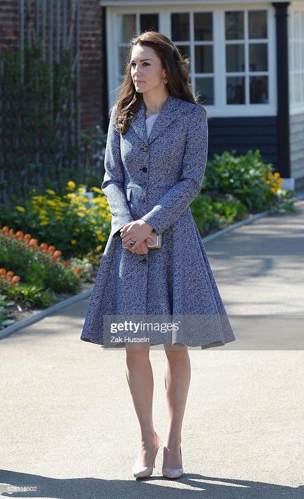 The Duchess Of Cambridge Opens The Magic Garden At Hampton Court Palace : News Photo