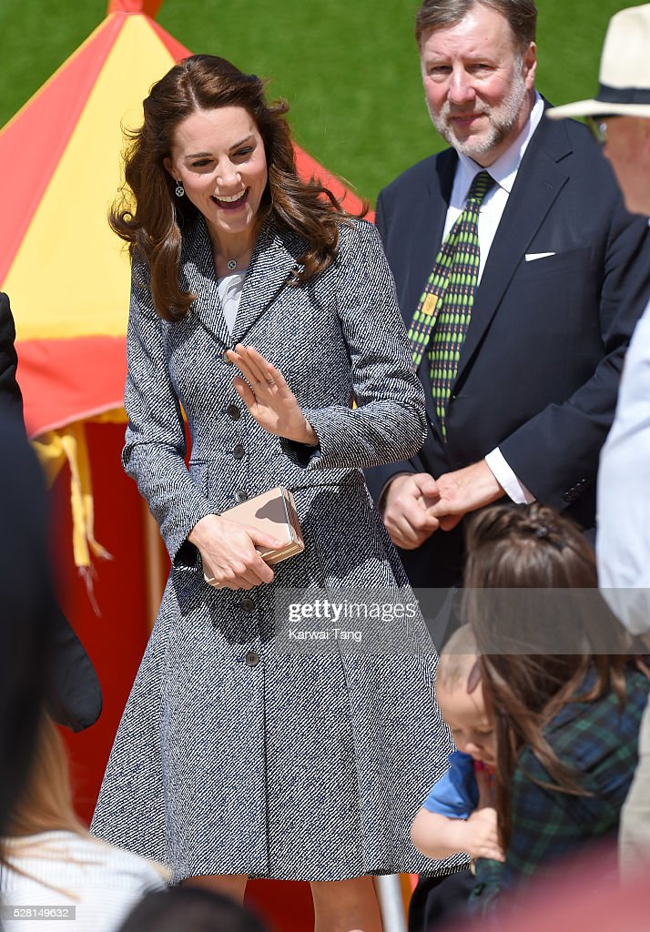 The Duchess Of Cambridge Opens The Magic Garden At Hampton Court Palace : News Photo