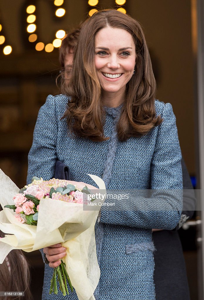 Catherine, Duchess of Cambridge opens the new EACH Charity Shop on March 18, 2016 in Holt, Norfolk.