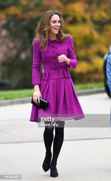 Catherine, Duchess of Cambridge opens The Nook Children Hospice on November 15, 2019 in Framingham Earl, Norfolk.The Duchess of Cambridge is Royal...