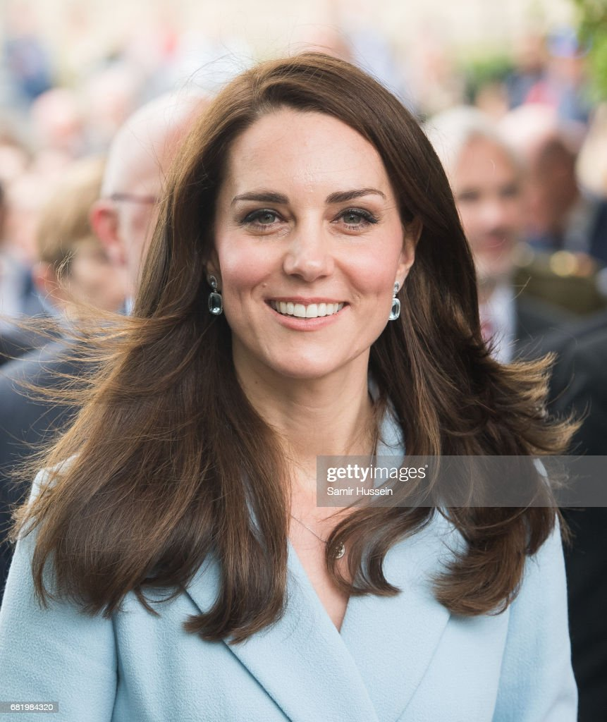 Catherine, Duchess of Cambridge outside the City Museum along the Corniche to view the capital during a one day visit on May 11, 2017 in Luxembourg. The Duchess will attend a series of engagements to celebrate the cultural and historic ties between the UK and Luxembourg and the official commemoration of the 1867 Treaty of London, which confirmed Luxembourg's independence and neutrality.