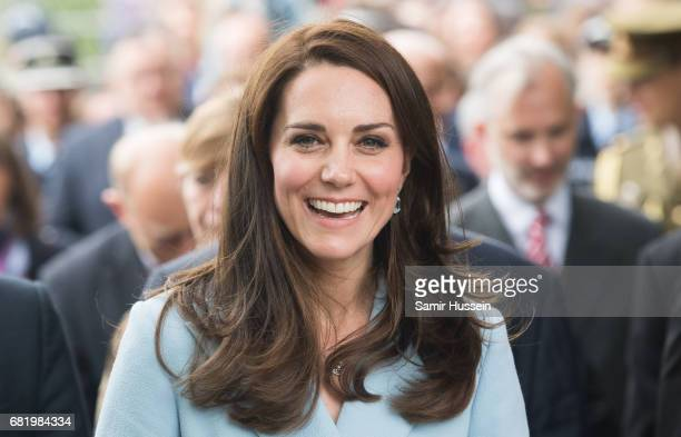 Catherine Duchess of Cambridge outside the City Museum along the Corniche to view the capital during a one day visit on May 11 2017 in Luxembourg The...